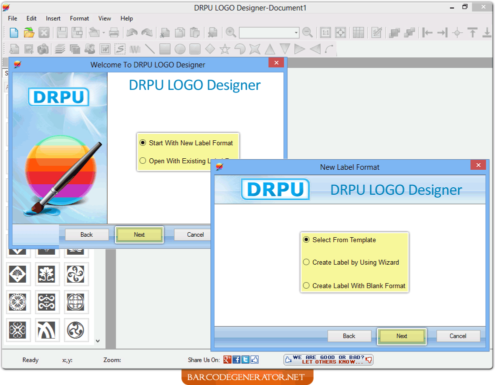 Screenshots of business card generator software to know how to business card generator software reheart Gallery
