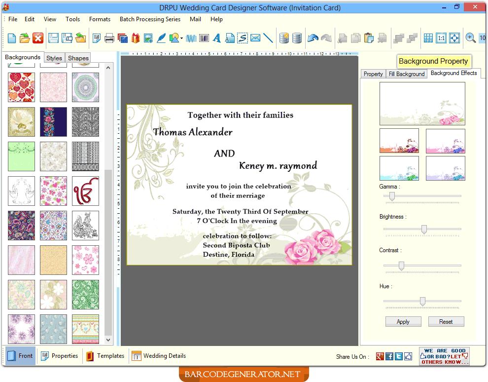 Wedding Card Generator Software