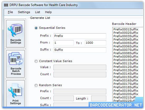 Windows 7 Healthcare Barcode Creator 7.3.0.1 full